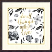 "Sarah Zieve Miller 'Live Beautifully - Do all Things with Love' Framed Art Print 24"" x 24"" (DSW1418405)"