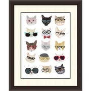 "Hanna Melin 'Cats with Glasses' Framed Art Print 30"" x 36"" (DSW1418397)"
