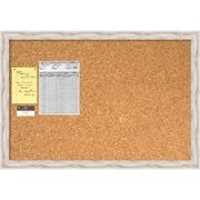 Alexandria Whitewash Cork Board, Large Message Board 39 x 27 inch (DSW1418336) by