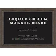 Rustic Pine Liquid Chalk Marker Board - Large Message Board 42 x 30-inch (DSW2972102)