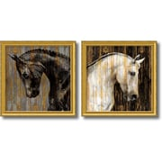 Amanti Art Martin Rose 'Horse- set of 2' Art Print 31 x 31  in. Gold Wood Frame (DSW1385983)