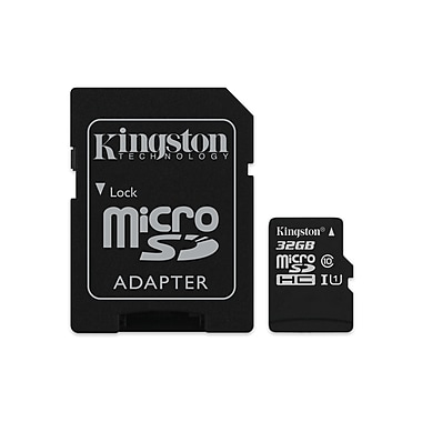 Kingston MicroSD Card With SD Adapter Class 10, 32GB