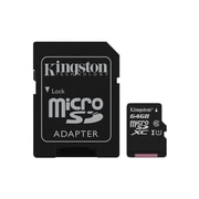 Kingston MicroSDXC Card With SD Adapter Class 10, 64GB