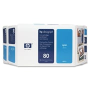HP 80 Ink Cartridge, Retail, Cyan, (C4891A)