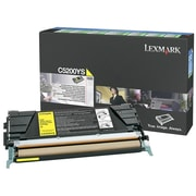 Lexmark Return Program Toner Cartridge, Laser, Yellow, (C5200YS)