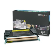 Lexmark Return Program Toner Cartridge, Laser, Standard Yield, OEM, Yellow, (C734A1YG)