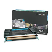 Lexmark Return Program Toner Cartridge, Laser, Standard Yield, OEM, Cyan, (C734A1CG)