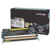 Lexmark C748 Return Program Toner Cartridge, Laser, High Yield, Yellow, (C748H1YG)