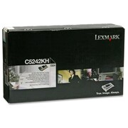 Lexmark Toner Cartridge, Laser, High Yield, Black, (C5242KH)