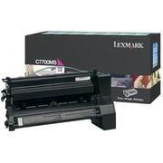 Lexmark Return Program Toner Cartridge, Laser, Magenta, (C7700MS)