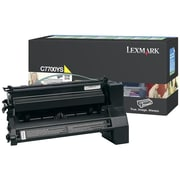 Lexmark Return Program Toner Cartridge, Laser, Yellow, (C7700YS)