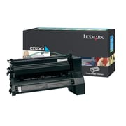 Lexmark Return Program Toner Cartridge, Laser, Extra High Yield, Cyan, (C7720CX)