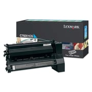 Lexmark Return Program Toner Cartridge, Laser, Extra High Yield, Cyan, (C782X1CG)