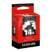 Lexmark No.14A Ink Cartridge, Inkjet, Black, (18C2080)
