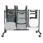 Zown Classic Collection Folding Chair Trolley Grey (60248GRY1E)