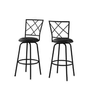 "Monarch Specialties 29.5""H Black 2pcs Barstool ( I 2375 )"