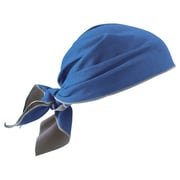 Ergodyne Chill-Its 6710MF Evaporative Microfiber Cooling Triangle Hat, Blue (12367)