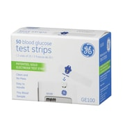 GE Blood Glucose Test Strips, (GE100)