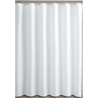 Cotton House – Rideau de douche en vinyle avec crochets, 72 x 72 po, blanc (01-SC-0109)