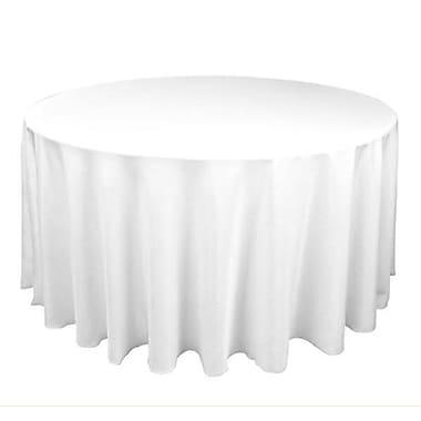 Schonfeld – Nappe de protection matelassée Hotel Premium, diamètre de 70 po, blanc, diamètre de 70 po, blanc