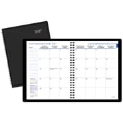 "Staples® 2017 Monthly Planner, 7-1/2"" x 9"", Black, Bilingual"