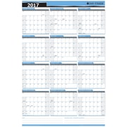 "Day-Timer® 2017 Flexible Erasable Horizontal Dry-Erase Wall Planner, 24"" x 36"", Bilingual"