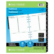 "Day-Timer® 2017 Dated Refills, Folio, 1-Page Per Day, 8-1/2"" x 11"", Bilingual"