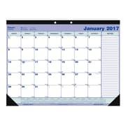 Blueline® - Calendrier sous-mains de bureau mensuel 2017, 21 1/4 po x 16 po, anglais