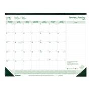 "Blueline® 2017 EcoLogix® Monthly Desk Pad Calendar, 22"" x 17"", Bilingual"