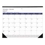 Blueline® – Calendrier sous-mains de bureau mensuel DuraGlobe™ 2017, 22 po x 17 po, bilingue