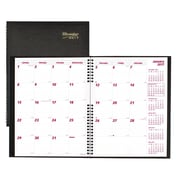 "Brownline® 2017 CoilPro® Monthly Planner, 11"" x 8-1/2"", Black, English"
