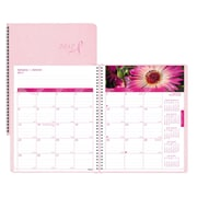 "Blueline® 2017 Monthly Planner, 8-7/8"" x 7-1/8"", Pink Ribbon, Pink, Bilingual"