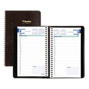 "Blueline® 2017 Daily Planner, 8"" x 5"", Soft Cover, Spiral Binding, Black, Bilingual"