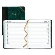 "Brownline® 2017 Daily Planner, 8-1/8"" x 6-9/16"", Marble Green Cover, English"