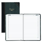 "Brownline 2017 Daily Planner, 13-3/8"" x 8"", Marble Green Cover, English"