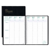 "Blueline® 2017 Timanager® Weekly Planner, 11"" x 8-1/2"", 7-Day Planner, Black, English"