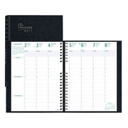 "Blueline® 2017 Timanager® CoilPro™ Weekly Planner, 11"" x 8-1/2"", 7-Day Planner, Black, English"