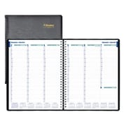 "Blueline® 2017 Weekly Planner, 11"" x 9-1/16"", Soft Cover, Twin-Wire Binding, Black, Bilingual"