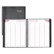 "Brownline® 2017 Four-Person Daily Professional Appointment Book, 11"" x 8-1/2"", Black, English"