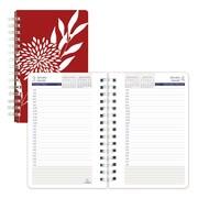 "Blueline® 2017 Duraglobe™ Daily Planner, 8"" x 5"", Sugarcane Based Paper, Red Joyful Design, Bilingual"