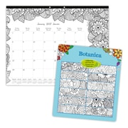 "Blueline® 2017 Monthly Desk Pad Calendar, Bilingual, Botanical, 22""x17"""