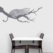 Wallums Wall Decor Jaguar On Branch Wall Decal; Storm Gray