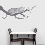 Wallums Wall Decor Jaguar On Branch Wall Decal; Storm Gray