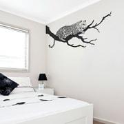 Wallums Wall Decor Jaguar On Branch Wall Decal; Warm Gray