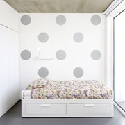 Wallums Wall Decor Giant Polka Dots Wall Decal; White