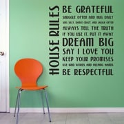 Wallums Wall Decor House Rules Wall Decal; Dark Red