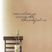 Wallums Wall Decor Always Thankful Wall Decal; Chocolate Brown