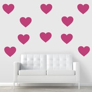 Wallums Wall Decor Giant Hearts Wall Decal; Gold Metallic