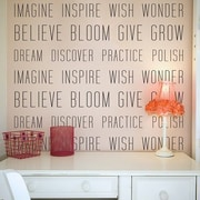 Wallums Wall Decor Encouraging Verbs Wall Decal (Set of 2); Gold Metallic