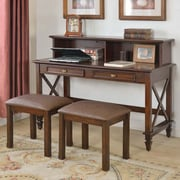 BestMasterFurniture Computer Desk with 2 Stools